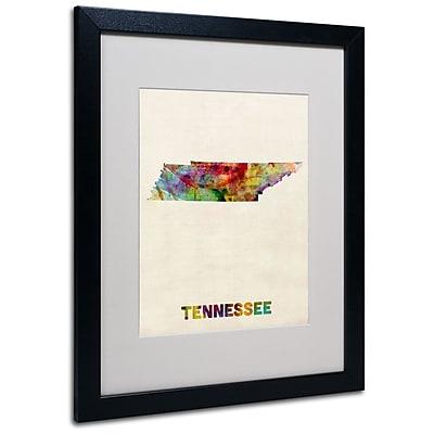 Trademark Fine Art 'Tennessee Map' 16