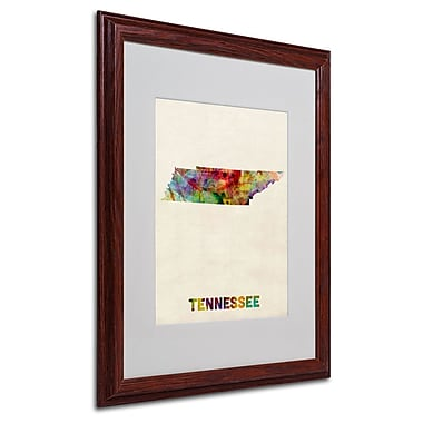 Trademark Fine Art 'Tennessee Map' 16