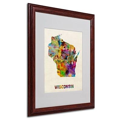 Trademark Fine Art 'Wisconsin Map' 16