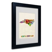 Trademark Fine Art 'North Carolina Map'