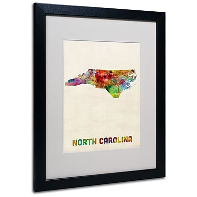 Trademark Fine Art 'North Carolina Map' 16