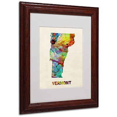 Trademark Fine Art 'Vermont Map' 11