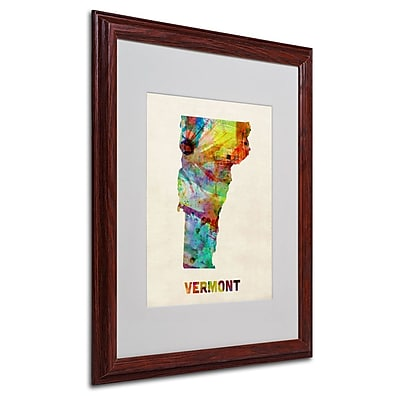 Trademark Fine Art 'Vermont Map' 16