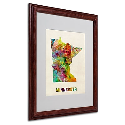 Trademark Fine Art 'Minnesota Map' 16