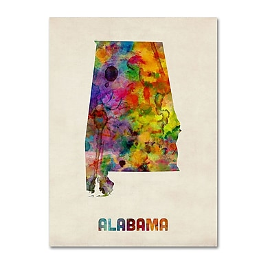 Trademark Fine Art 'Alabama Map' 14
