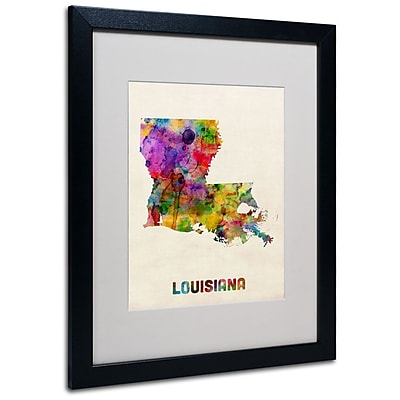Trademark Fine Art 'Louisiana Map' 16