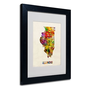 Trademark Fine Art 'Illinois Map'