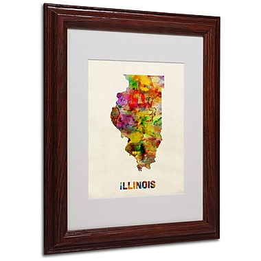 Trademark Fine Art 'Illinois Map' 11