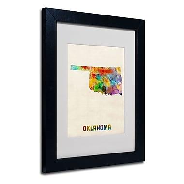 Trademark Fine Art 'Oklahoma Map'