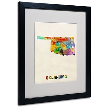 Trademark Fine Art 'Oklahoma Map' 16
