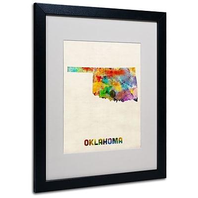 Trademark Fine Art 'Oklahoma Map' 16