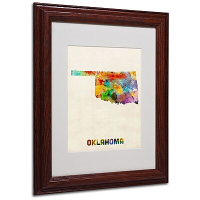 Trademark Fine Art 'Oklahoma Map' 11