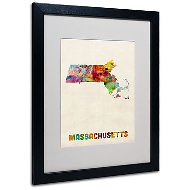 Trademark Fine Art 'Massachusetts Map' 16
