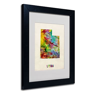 Trademark Fine Art 'Utah Map'