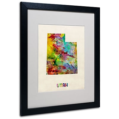 Trademark Fine Art 'Utah Map' 16