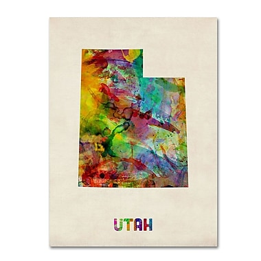 Trademark Fine Art 'Utah Map' 14