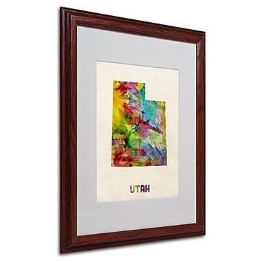 Trademark Fine Art 'Utah Map' 16