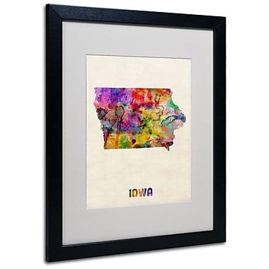 Trademark Fine Art 'Iowa Map' 16