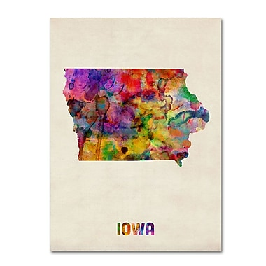 Trademark Fine Art 'Iowa Map' 18