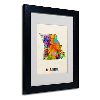 Trademark Fine Art 'Missouri Map'