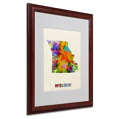 Trademark Fine Art 'Missouri Map' 16