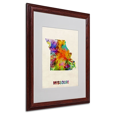 Trademark Fine Art 'Missouri Map' 16