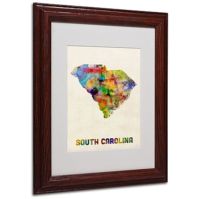 Trademark Fine Art 'South Carolina Map' 11