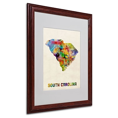 Trademark Fine Art 'South Carolina Map' 16