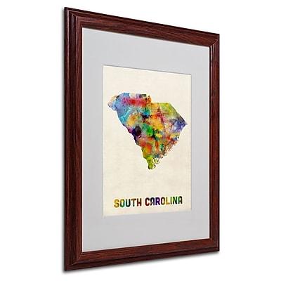 Trademark Fine Art 'South Carolina Map' 16