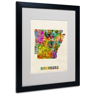 Trademark Fine Art 'Arkansas Map' 16
