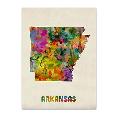 Trademark Fine Art 'Arkansas Map' 24