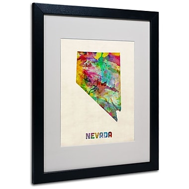 Trademark Fine Art 'Nevada Map' 16