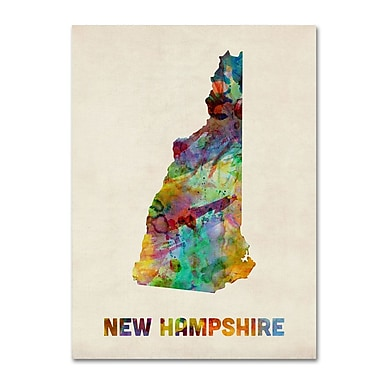 Trademark Fine Art 'New Hampshire Map' 14