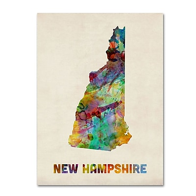Trademark Fine Art 'New Hampshire Map' 18