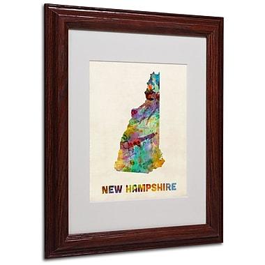 Trademark Fine Art 'New Hampshire Map' 11