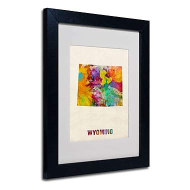 Trademark Fine Art 'Wyoming Map'