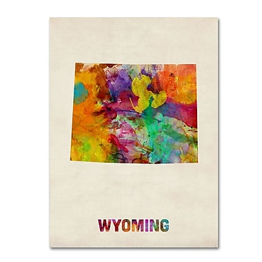 Trademark Fine Art 'Wyoming Map' 18