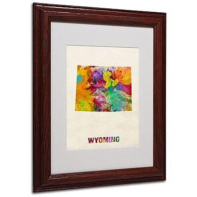 Trademark Fine Art 'Wyoming Map' 11