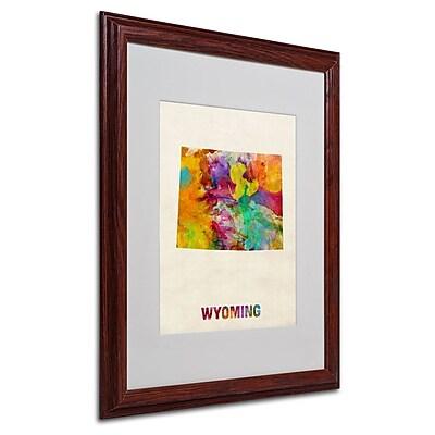 Trademark Fine Art 'Wyoming Map' 16