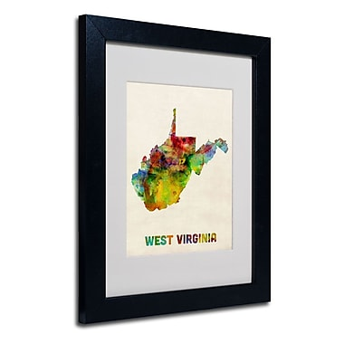 Trademark Fine Art 'West Virginia Map'