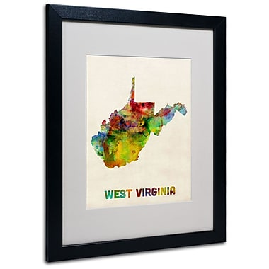 Trademark Fine Art 'West Virginia Map' 16