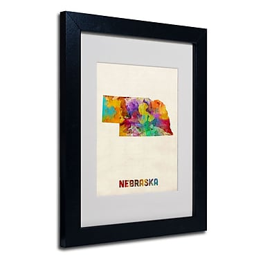 Trademark Fine Art 'Nebraska Map'