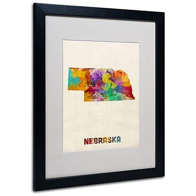 Trademark Fine Art 'Nebraska Map' 16