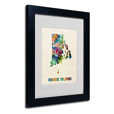 Trademark Fine Art 'Rhode Island Map'