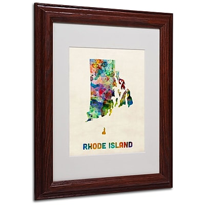 Trademark Fine Art 'Rhode Island Map' 11