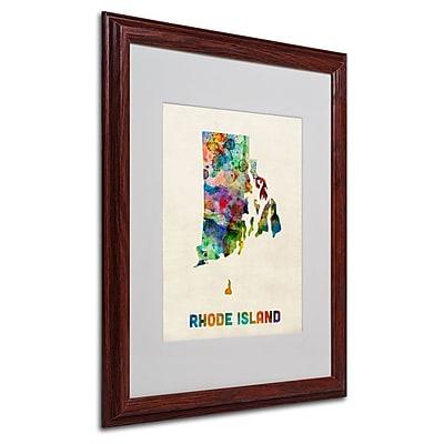 Trademark Fine Art 'Rhode Island Map' 16