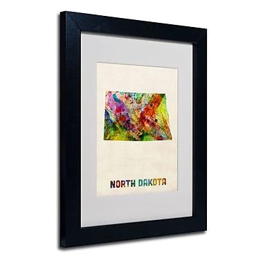 Trademark Fine Art 'North Dakota Map'
