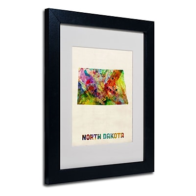Trademark Fine Art 'North Dakota Map' 11