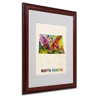Trademark Fine Art 'North Dakota Map' 16