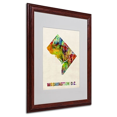 Trademark Fine Art 'Washington D.C. Map' 16
